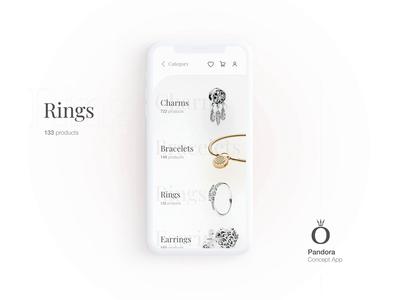 Pandora App - Category Screen