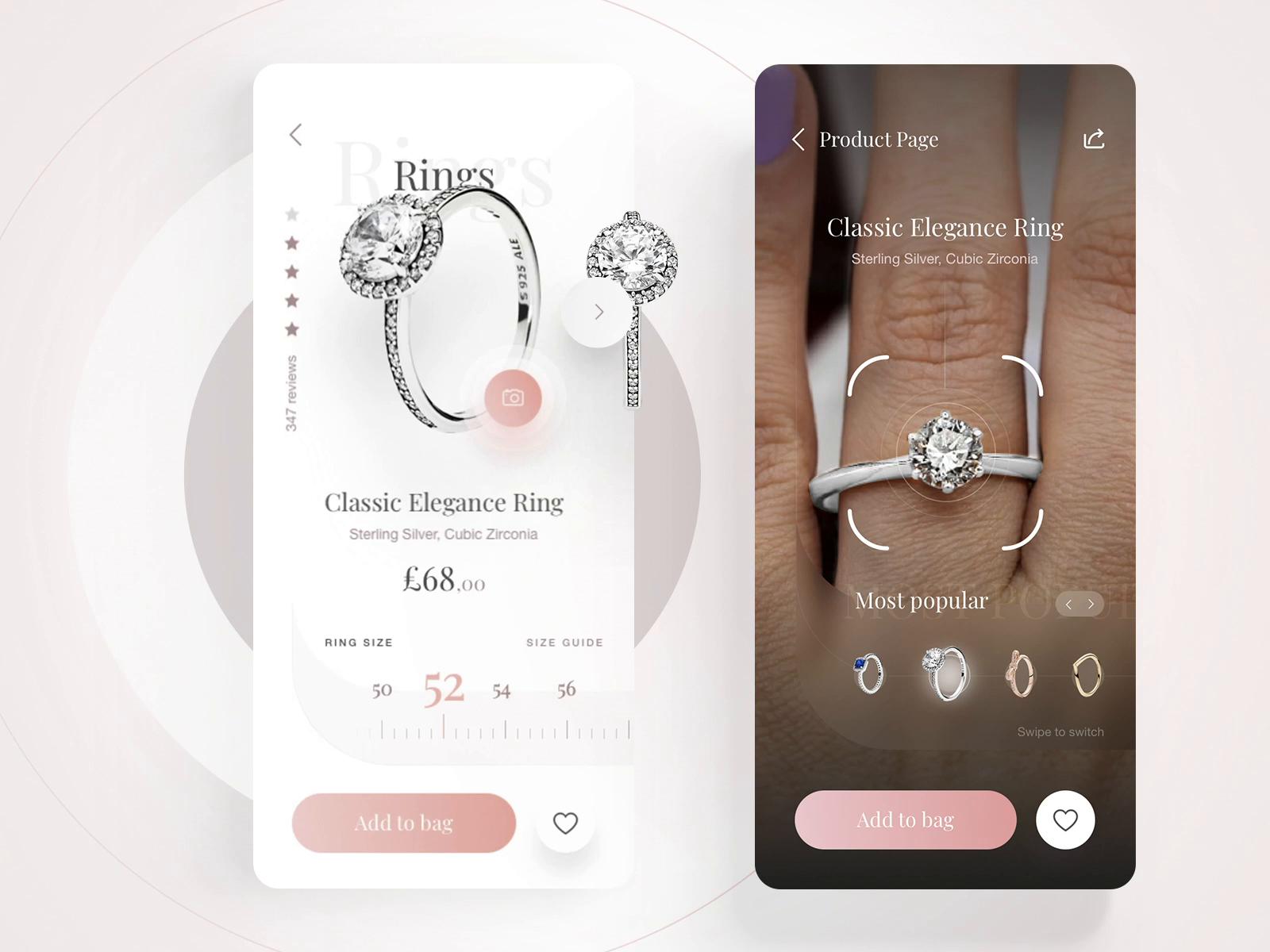 Pandora App Ring Size Ar Try On By Krystian Bieda On Dribbble
