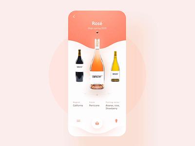 Empathy Wines -  mobile app design vino label drink wine slider motion e-commerce ios ux ui interface interaction app 7ninjas vivino empathy wines wine subscription