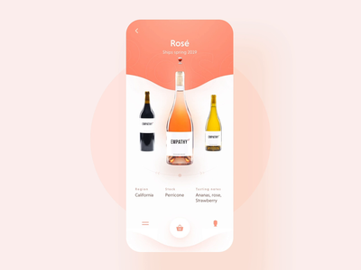 Empathy Wines -  mobile app design
