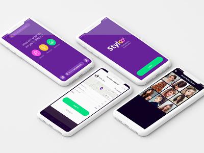 Stylco color moda estilo animation developer ui ux design app