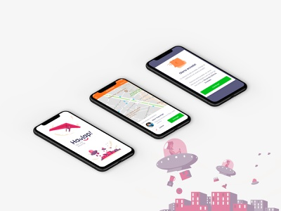 Haulap Wearemoving shop reparto icon develope ux ui design app