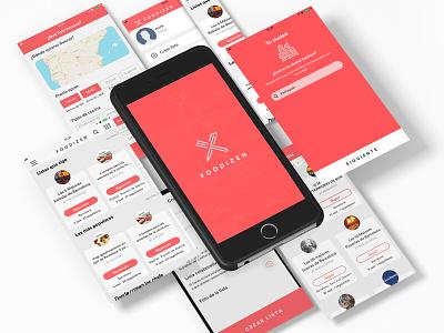 Foodizen App developer food app food develope app ui ux design