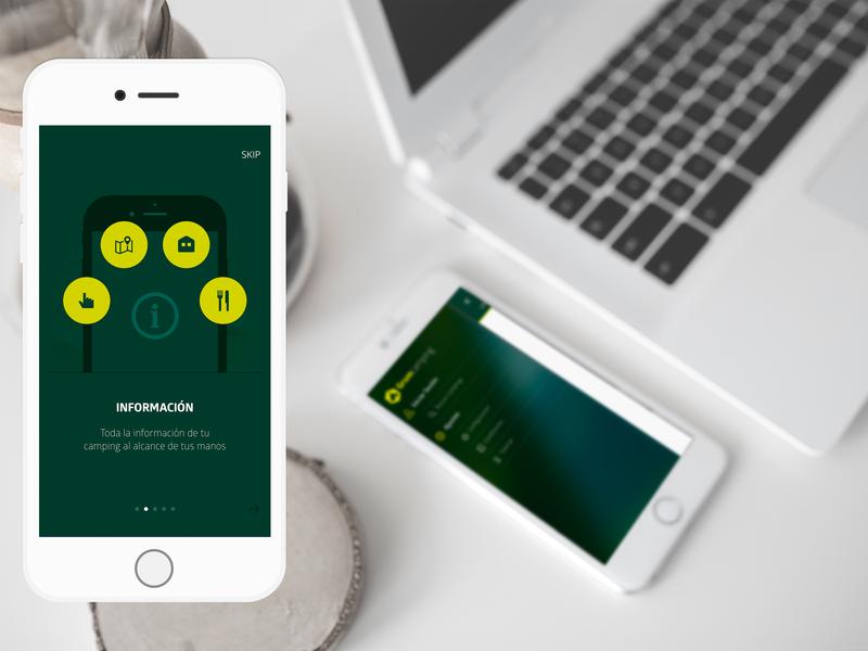 Grumcamping App food eat developer develope app ui ux design