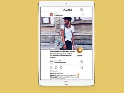 Vouzzer App Ipad moda shop developer develope ux app ui design