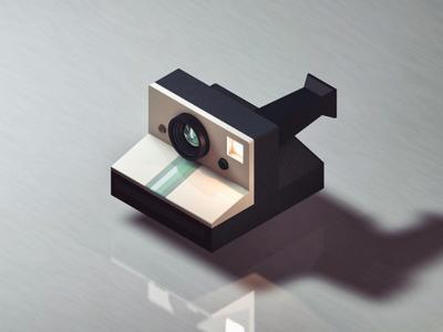 Picture Perfect cinema 4d texture lighting materials render polaroid model camera c4d 3d