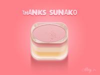 I made a fruit pudding for you!@sunako