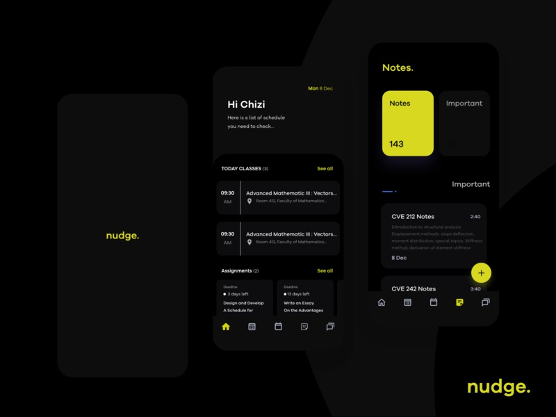 Nudge App Dark Mode