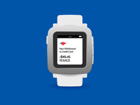 Pebble Time Bank of America Concept