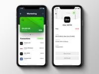 Quarter Credit Card App app concept app iphone iphone x ios credit card payment transaction credit card