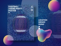 Football Theme Party Poster