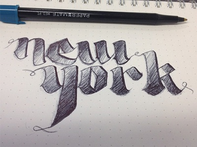new york typography sketch lettering hand lettering