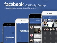 Facebook iOS8 design concept
