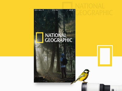National Geographic Design Concept graphic design ux design ui design ios design mobile app design