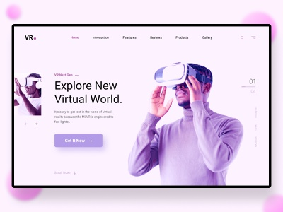 VR Virtual Reality vr banner ads banner design banners vroom vr design flat minimal ux design ui branding illustration typography website ui ux web uiux banner virtual reality