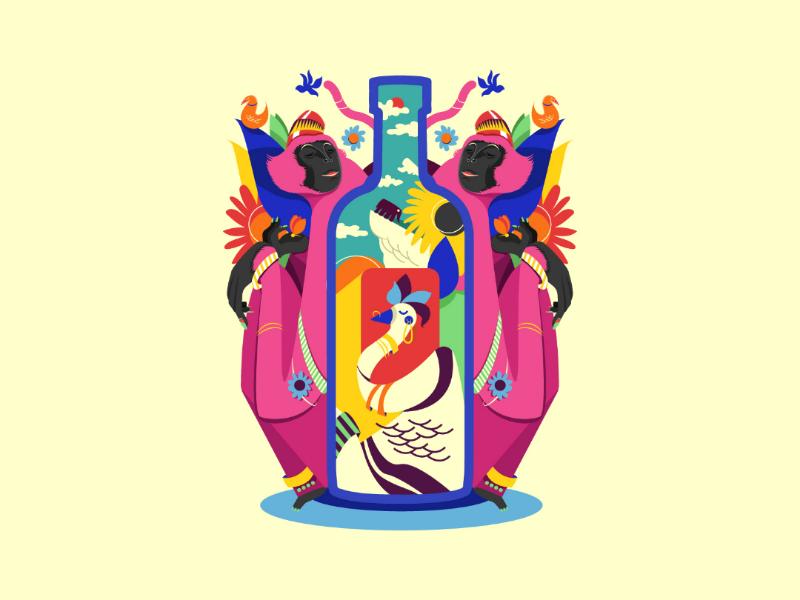 Absolut India uiux webdesign indianart india absolut art illustration