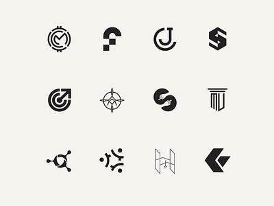logomarks vector illustration monogram art typography inspiration branding icon logo design