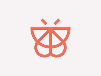 butterfly inspiration minimal icon art typography monogram illustration iconic logo design