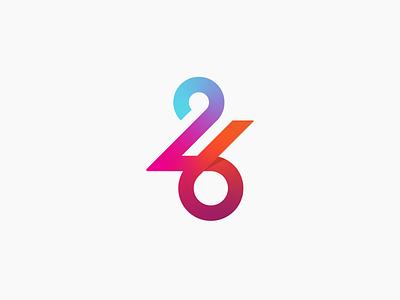 26 26 colorful minimal typography branding illustration iconic icon inspiration design