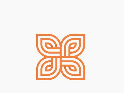 flower iconic flower vector flat minimal art branding illustration icon logo design