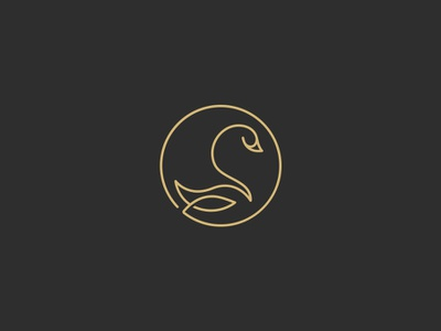 Swan linear line swan icon design logo continuous