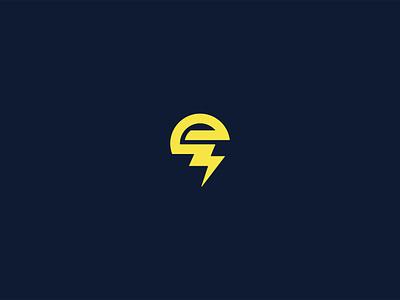 e+bolt logo power bolt iconic monogram inspiration icon design