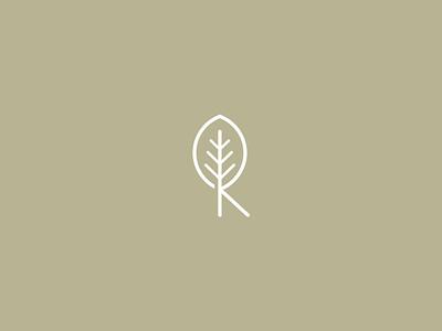 R+leaf tree leaf monogram illustration iconic logo design