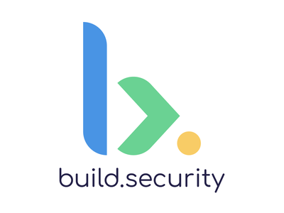 "Branding design for ""build.security"" typography logo brand design geomatric letter b logo"
