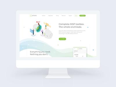 Atera's Redesigned Website wave toolbox msp enchilada redesign website atera