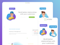 Landing page for Atera