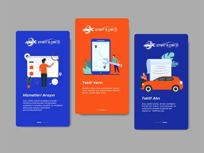 Onboarding Screens illustration colorful onboard ui user interface onboard screen onboarding onboard app repair shopi shop repair car