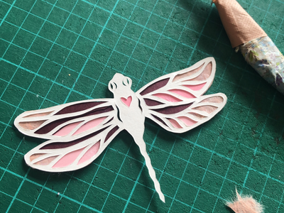 Papercut Dragonfly