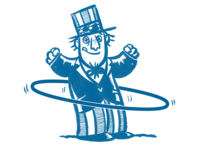 Uncle Sam Hula Hoop