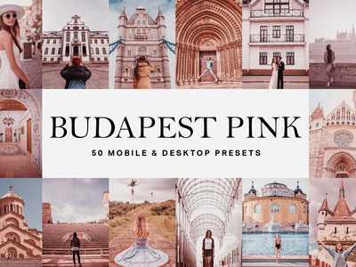 50 Budapest Pink Lightroom Presets pattern lightroom mobile preset lightroom presets lightroom filter lightroom mobile lightroom preset lightroom texture modern elegant color design budapest