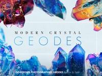 Modern Geode Gem Crystals