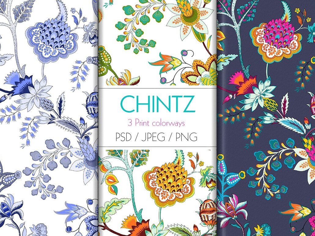 Chintz Print Design By Pattern Texture On Dribbble