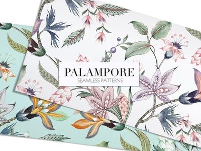 Palampore seamless watercolor print!