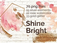 ShineBright|PNG|70 elements+5 bonus