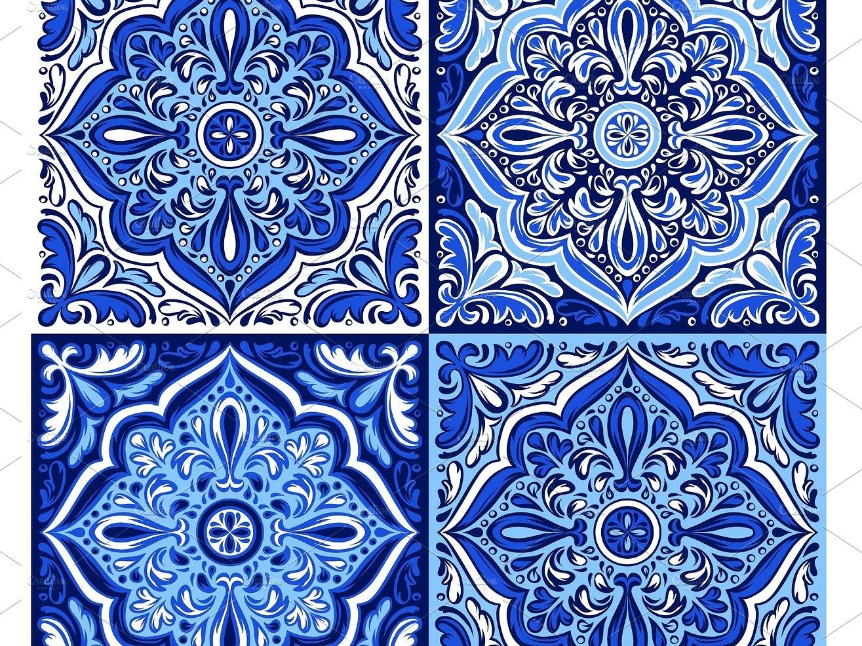 Italian ceramic tile pattern. Ethnic by Pattern Texture - Dribbble
