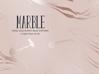 Marble, Rose, Gold & Navy Blue