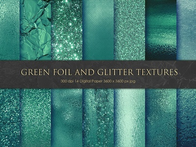 Green Foil and Glitter Textures, Bac