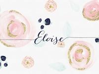 Watercolor Floral Background Eloise