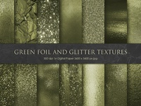 Green Foil and Glitter Textures