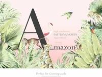 Amazon, Luxury Watercolor Pattern!