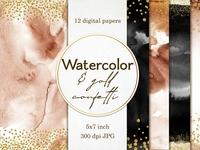 Nude Black Gold Confetti Watercolor Papers Invitations Cm 1