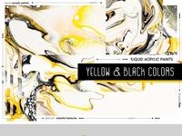 Yellow & Black flow acrylic textures