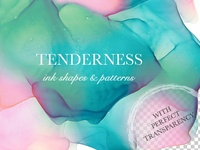 Tenderness. Ink Texture Collection.