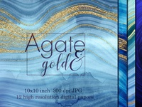 Blue agate textures with gold veins