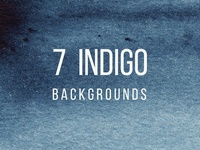 7 Watercolor Indigo Backgrounds