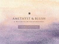 Watercolor Background - Blush
